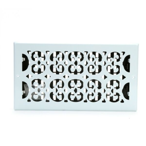 Decor Grates Scroll WallCeiling Register Painted White 6