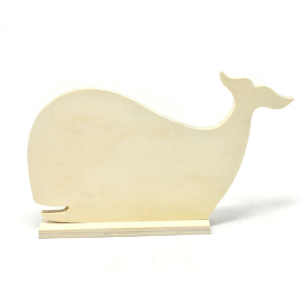 DIY Wood Craft Whale Stand 6 1 2 Inch