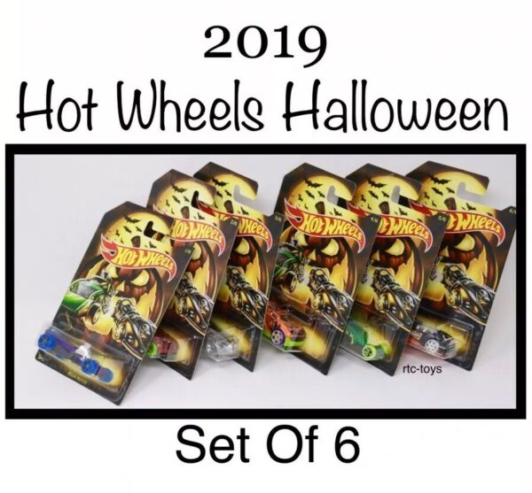 Hot Wheels Halloween 2019 Edition Set Of 6 Cars In Stock Now! Holiday Series