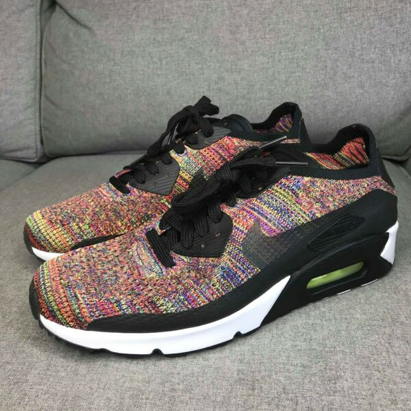 New Nike Mens Air Max 90 Ultra 2.0 Flyknit Multicolor 875943-002 Choose Size