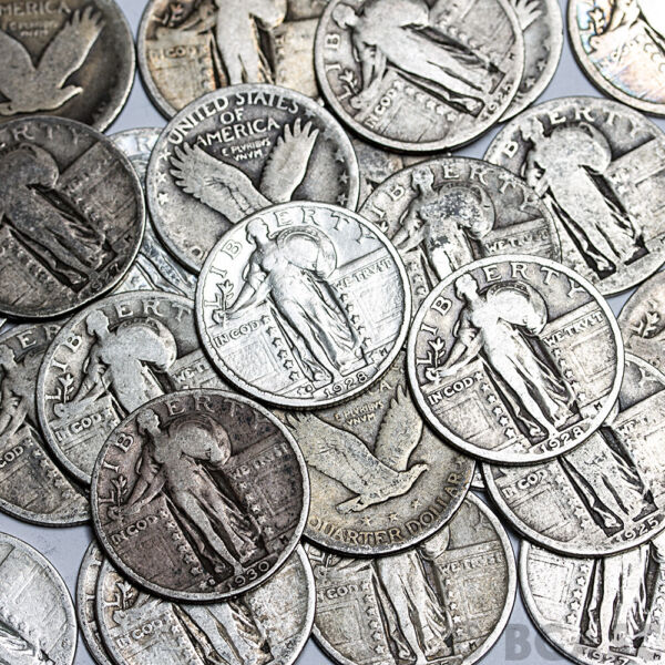 Standing Liberty Quarters 90% Silver Coin Lot Circulated Choose How Many