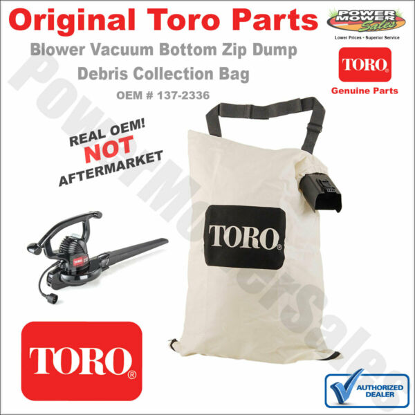 137 2336 127 7040 108 8994 Toro Blower Vac Debris Collection Bag 51574 51592