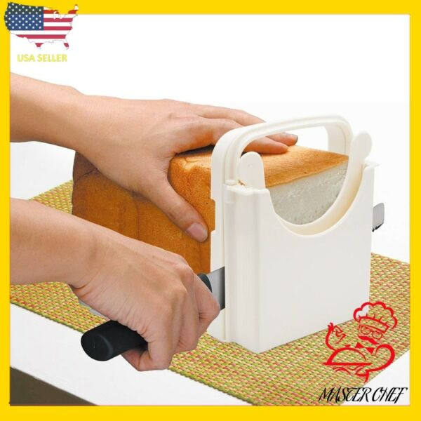 New Adjustable 5 Slice Thicknesses cutting guide mold bread toast bagel slicer