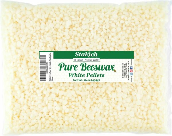 Natural Pure White Beeswax Pellet for Any Cosmetic or Hobby Use 1lbs $23.99