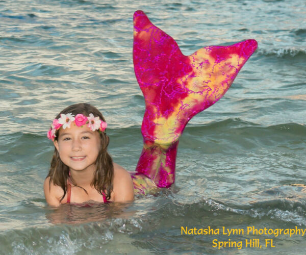 Mermaid Tail with Monofin US MADE Swimmable for Girls and Adults Fun Swim Fin.