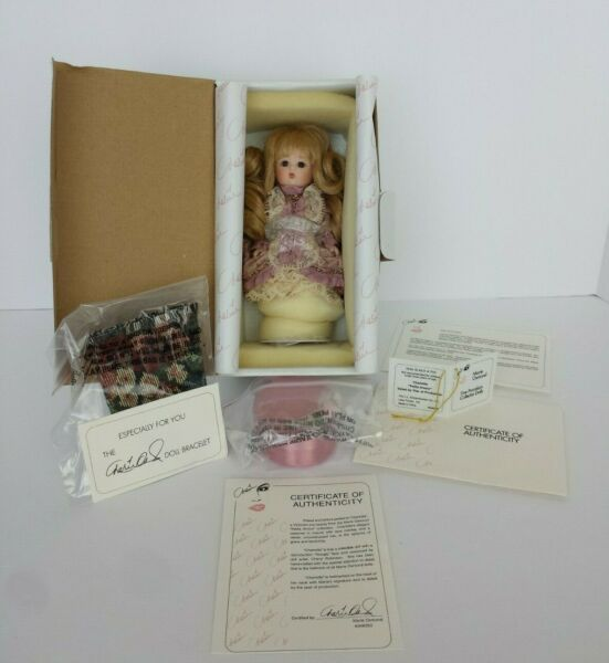 MARIE OSMOND CHARLOTTE PETITE AMOUR PORCELAIN DOLL NEW NEVER REMOVED FROM BOX