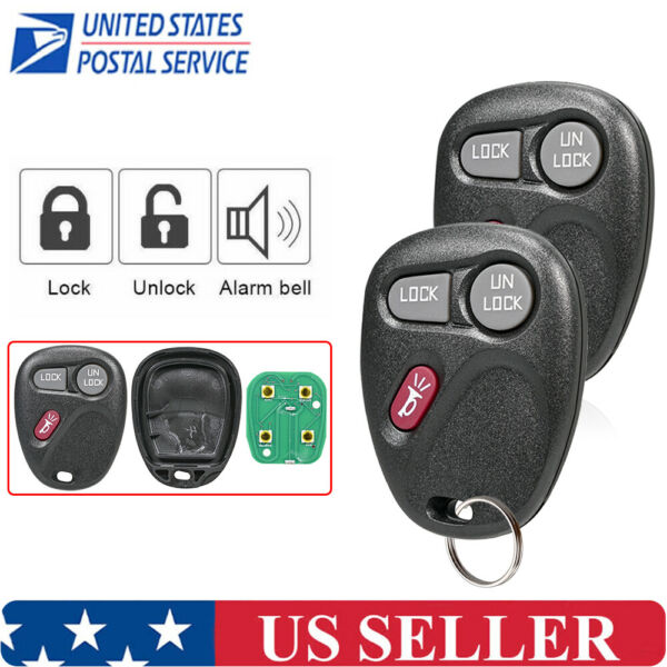 2x Keyless Entry Remote Key Fob Transmitter Clicker Replacement for 15732803