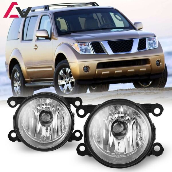 For Nissan Pathfinder 05-12 Clear Lens Pair Bumper Fog Light Lamp OE Replacement