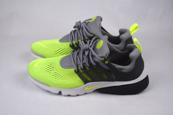 NEW NIKE AIR PRESTO ULTRA BREATHE WOLF GREY/VOLT SHOES SIZE 12 (898020-004)
