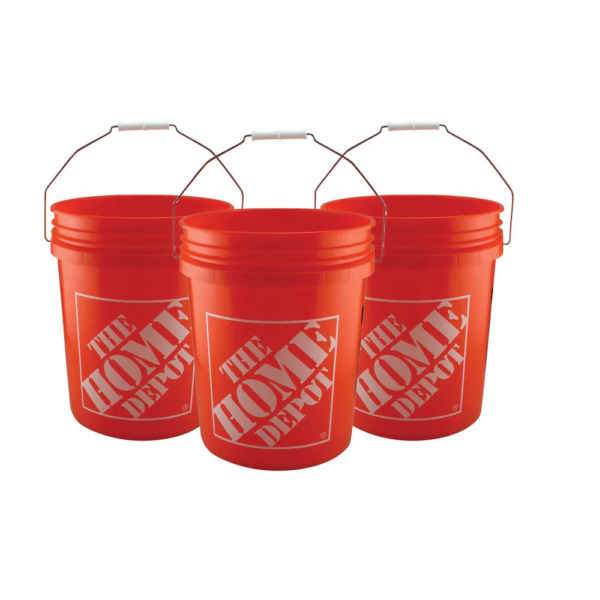 5 GALLON All Purpose Plastic Buckets Homer Pails Paint Utility Job ALL SET PACKS