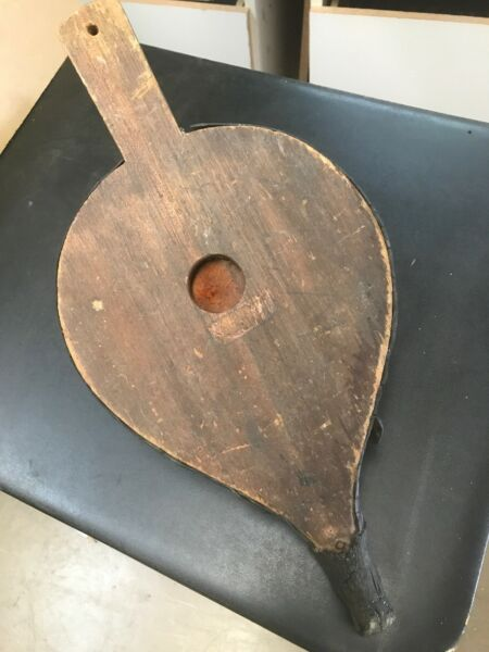 Vintage Primitive Rustic Blacksmith Forge Fireplace BELLOWS - Early 1900s -Works