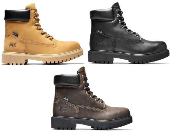 Timberland PRO Soft Toe Direct Attach 6 Inch Wheat Black Leather Work Boots