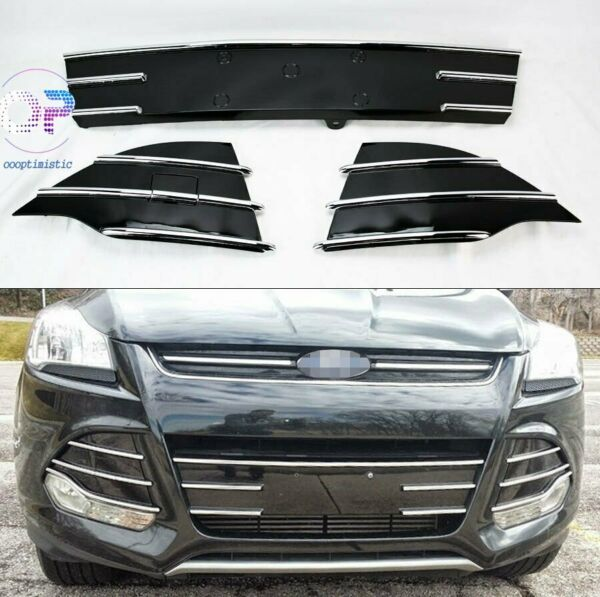 Front Bumper Lower Grille Grill Trim For Ford Escape Kuga 2013 2016