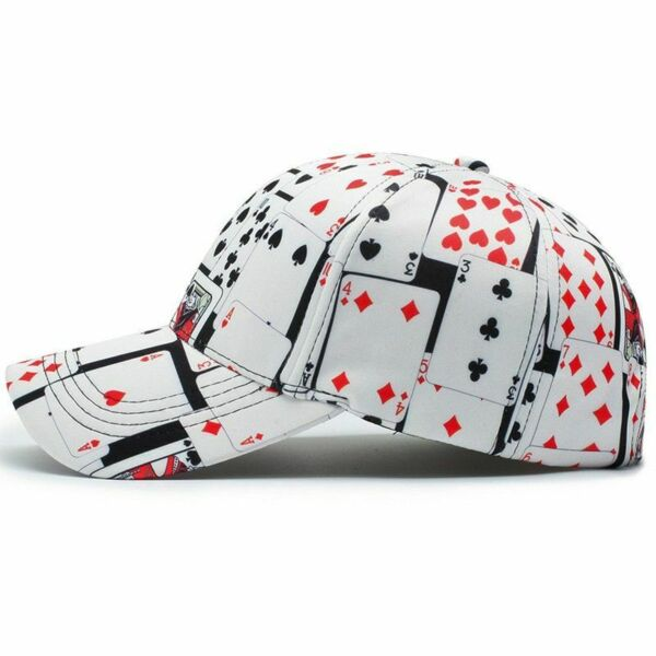 Baseball Cap For Men Poker Accessories Printed Summer Sports Hat Snapback 3D