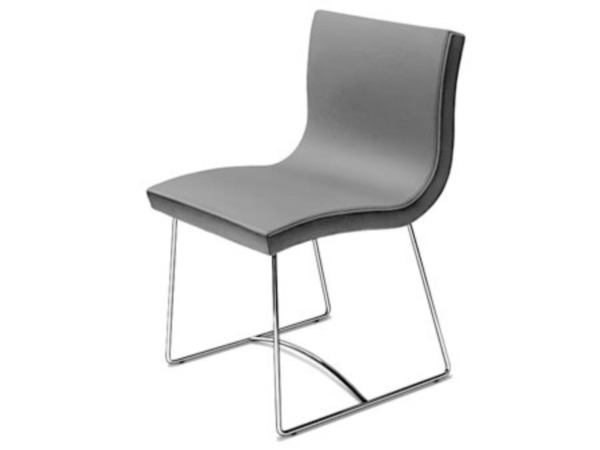 8 Ligne Roset SALA Dining Chairs - BLACK LEATHER Roche Bobois DWR B