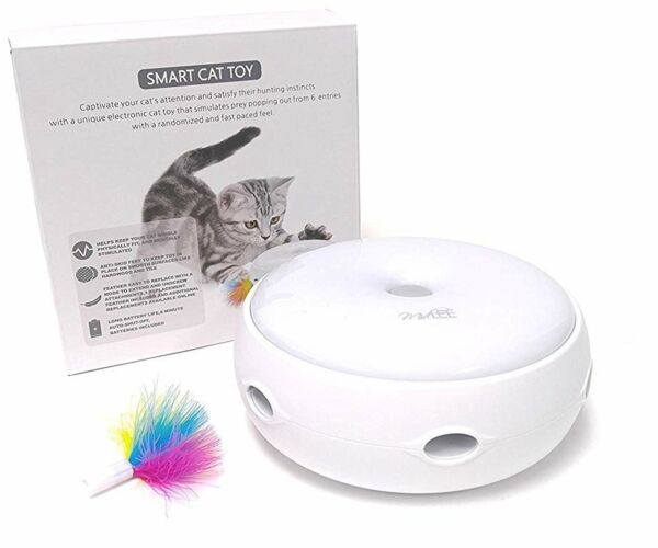 Cat Teaser Interactive Cat Toy Automatic Pet Kitten Electronic Motion Feathers