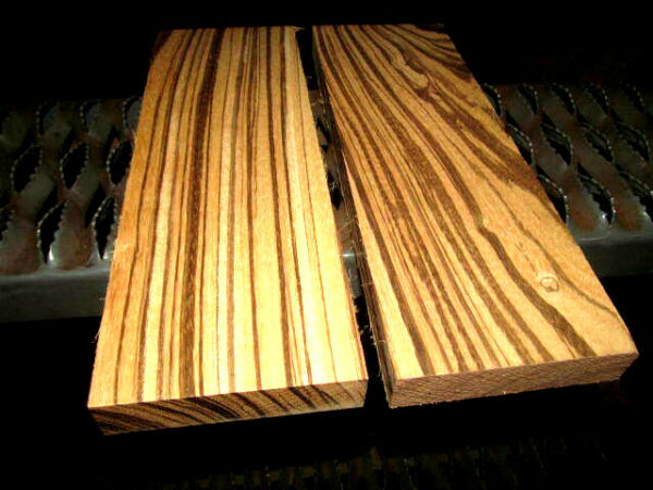 TWO 2 PREMIUM KILN DRIED SANDED ZEBRAWOOD LUMBER WOOD BLANKS 12 X 4 X 7 8quot; $26.95