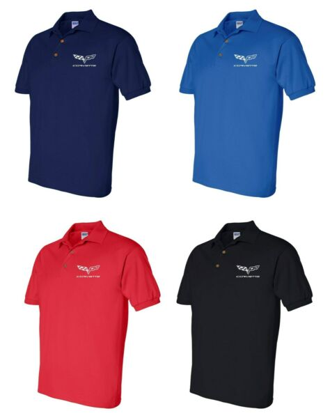 Corvette Polo Shirt Mens Adult Sizes S-5XL 4 Colors