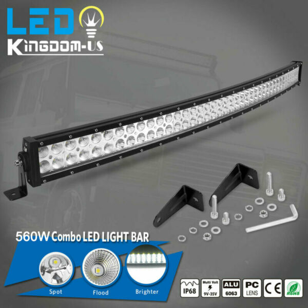 4D 42inch 560W Curved LED Light Bar Flood Spot Combo Off road Truck 4WD PK 40 42
