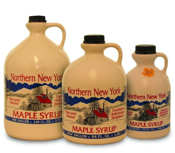 Large 1 Gal - Pure Adirondack New York Maple Syrup Taste Great!!! FREE SHIPPING!