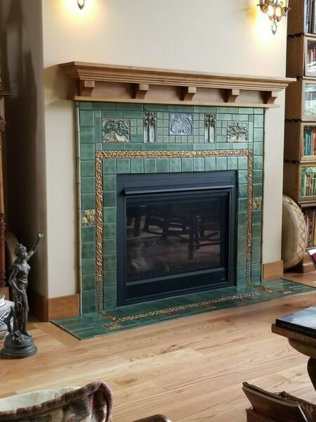 Fireplace Mantel Classic Craftsman Design  Custom Sizing Available Upon Request