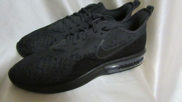 MEN`S NIKE AIR MAX SEQUENT 4 ATHLETIC SNEAKERS SIZE 10M NEW #AO4485 002 BLACK/AN