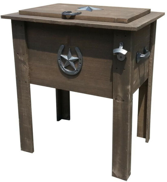 Durable Brown Wood 54 Qt. Polypropylene Country Chest Cooler Include Drain Valve $171.34