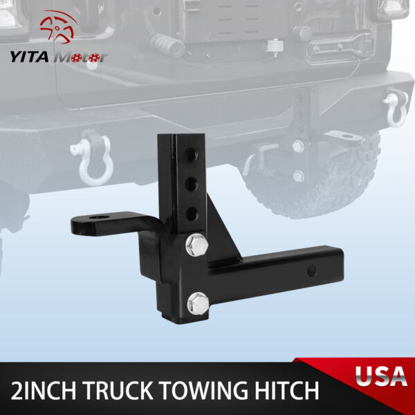 YITAMOTOR 10quot; Adjustable Ball Mount Trailer Drop Hitch Tow 2quot; Receiver Truck $31.90