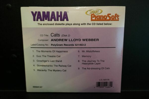 Used Yamaha Disklavier Piano Soft Smart Cats (Disk 2)  3.5 inch floppy disk