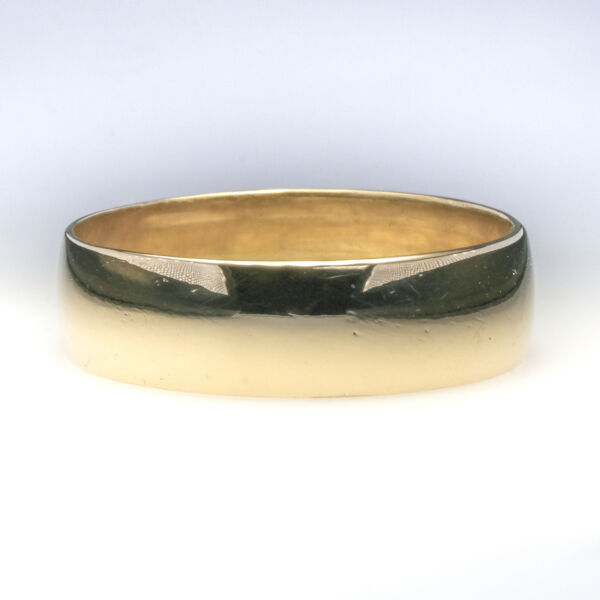 6mm Wide Half Round Wedding Band Ring Size 9 in 10K Yellow Gold - 3.4 grams