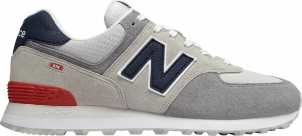 NEW BALANCE MENS CLASSIC TRADITIONALS ML574UJD-UJD GREY/NAVY/RED/WHITE