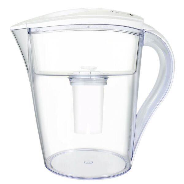 LeDoux Waters 10 Cup Water Pitcher Filters with 1 Filter BPA Free (White)