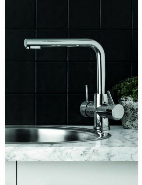 Phoenix PRISTINE 2-IN-1 FILTERED WATER SINK MIXER TAP ONLY Square Swivel CHROME