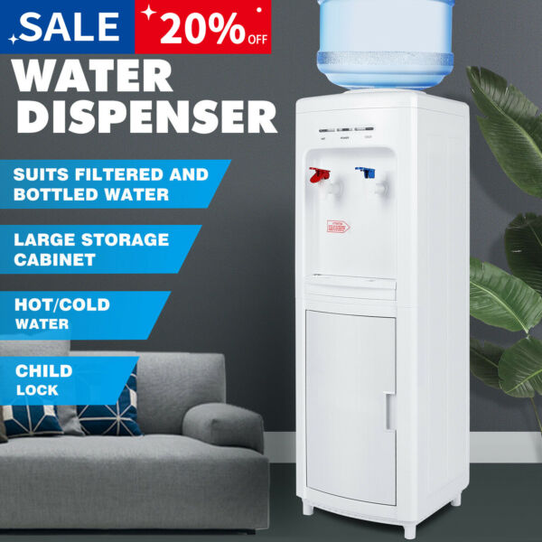 5 Gallon Freestanding Top Loading HotCold Water Cooler Dispenser wChild Lock