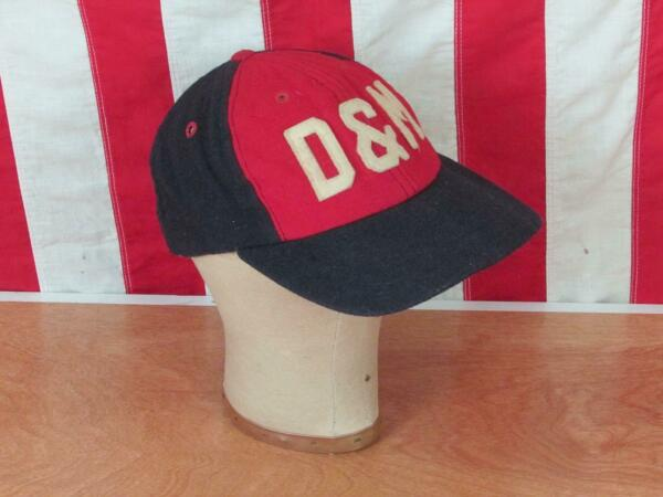 Vintage 1950s D&M Wool Baseball Cap New Era Hat Letter Patch RedWhiteBlue 2of2