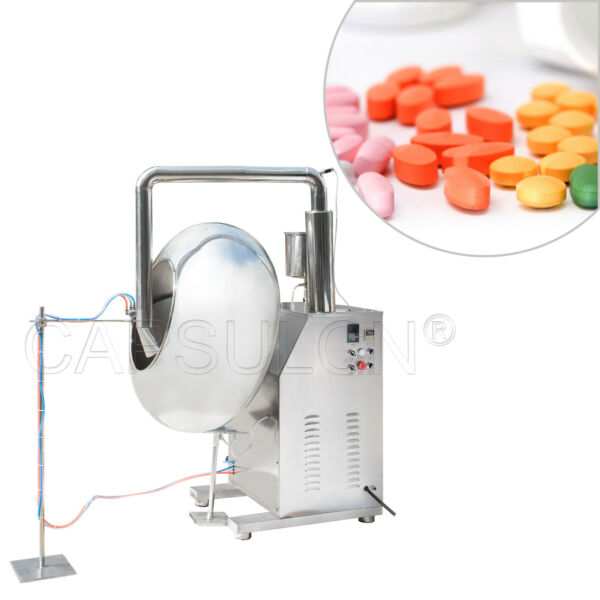 110220V BYC-1250 High Capacity Tablet Coating Machine Coating Pan For Pharmacy