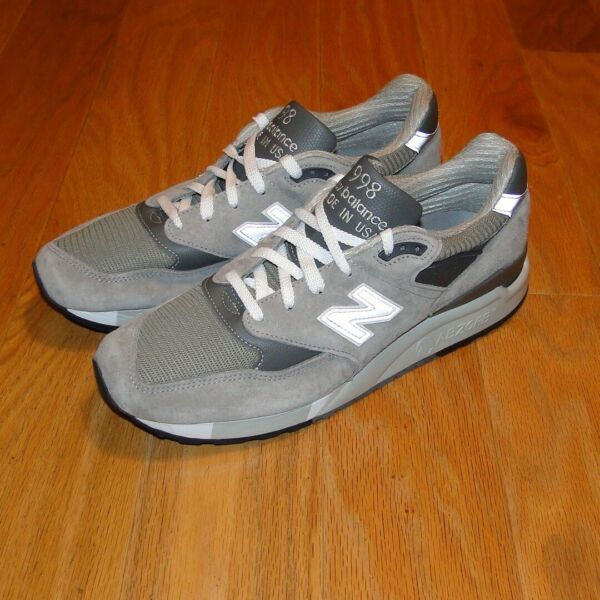 New Balance 998 Shoes NEW Size 11.5 Gray Suede Leather M998 Men's NB Bringback