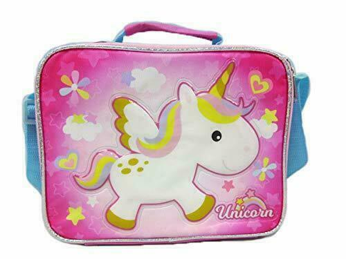 New~ Pink Unicorn Top Handle Shoulder Strap Girl New with Tags Lunch Bag