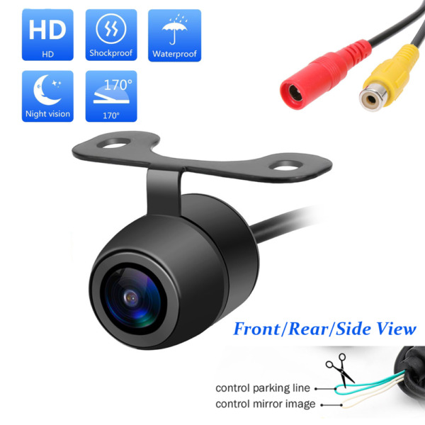 170º CMOS Car RearFrontSide View Reverse Backup Parking Camera Waterproof