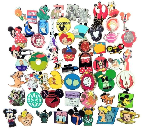Disney Assorted Pin Trading Lot Pick Size From 10 100 Brand NEW No Doubles $29.45
