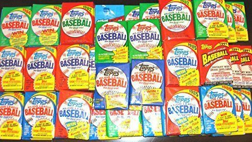 300 Old Vintage Topps Baseball Cards in Sealed Wax Pack Lot Gift Package