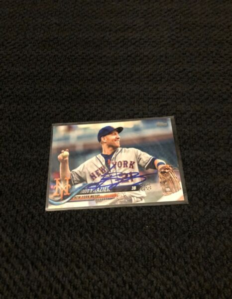 Todd Frazier Hand Signed New York Mets Baseball Card