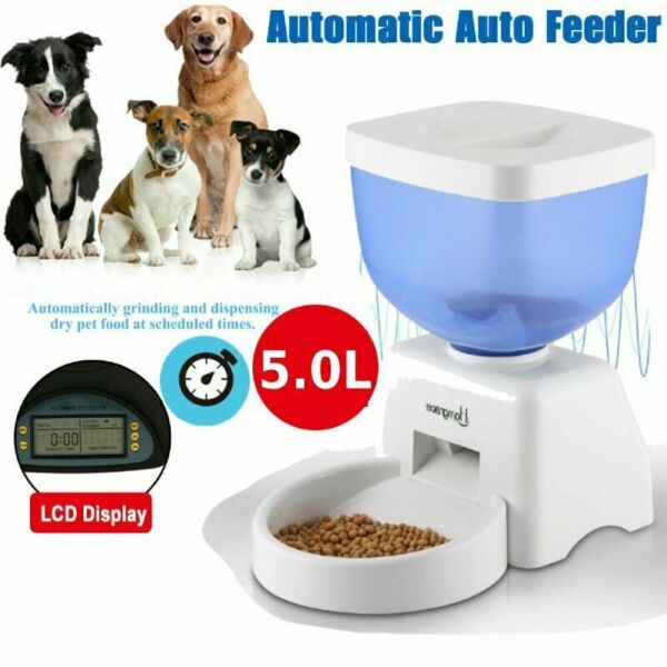 5L Automatic Pet Feeder Food Dispenser for Cat Dog Timer Programmable MY