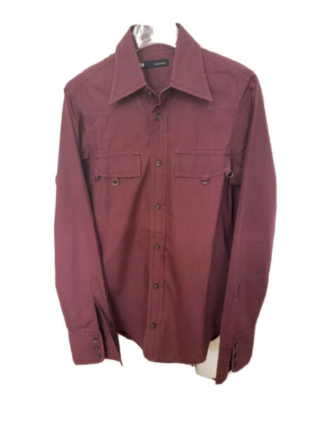 DSQUARED Shirt Burgundy Size 50 M Medium 330$ DSQUARED2 $50.00