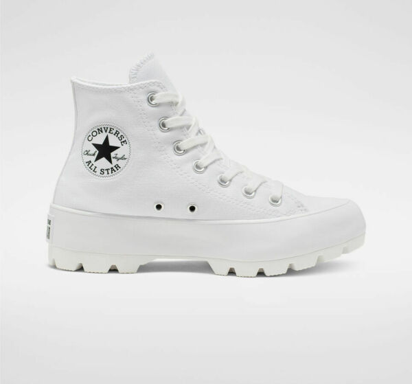 Womens Converse Chuck Taylor All Star Hi Lugged White NEW Platform Sneakers