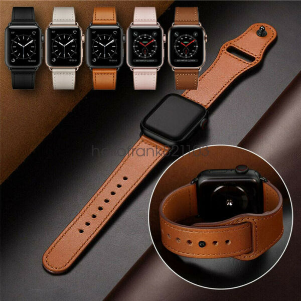 4044mm Genuine Leather Apple Watch Band Strap for iWatch Series 5 4 3 2 3842mm $12.18