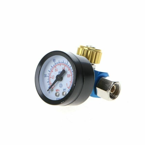 New 14'' BSP HVLP Spray Gun Air Regulator Tool Pressure Gauge Diaphragm Control