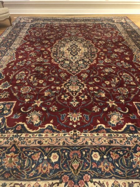 Y azd Antique 'Oriental' Rug - 16ft x 11ft 3in - Blues - Free Clean  Shipping