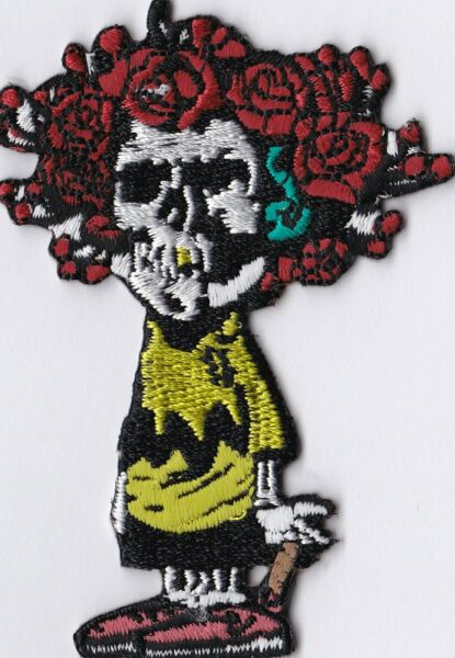 GRATEFUL DEAD - SKULL & ROSES CHARLIE BROWN - IRON or SEW-ON PATCH