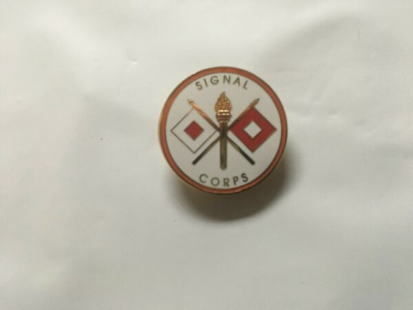 US ARMY SIGNAL CORPS ROUND HATLAPEL PIN